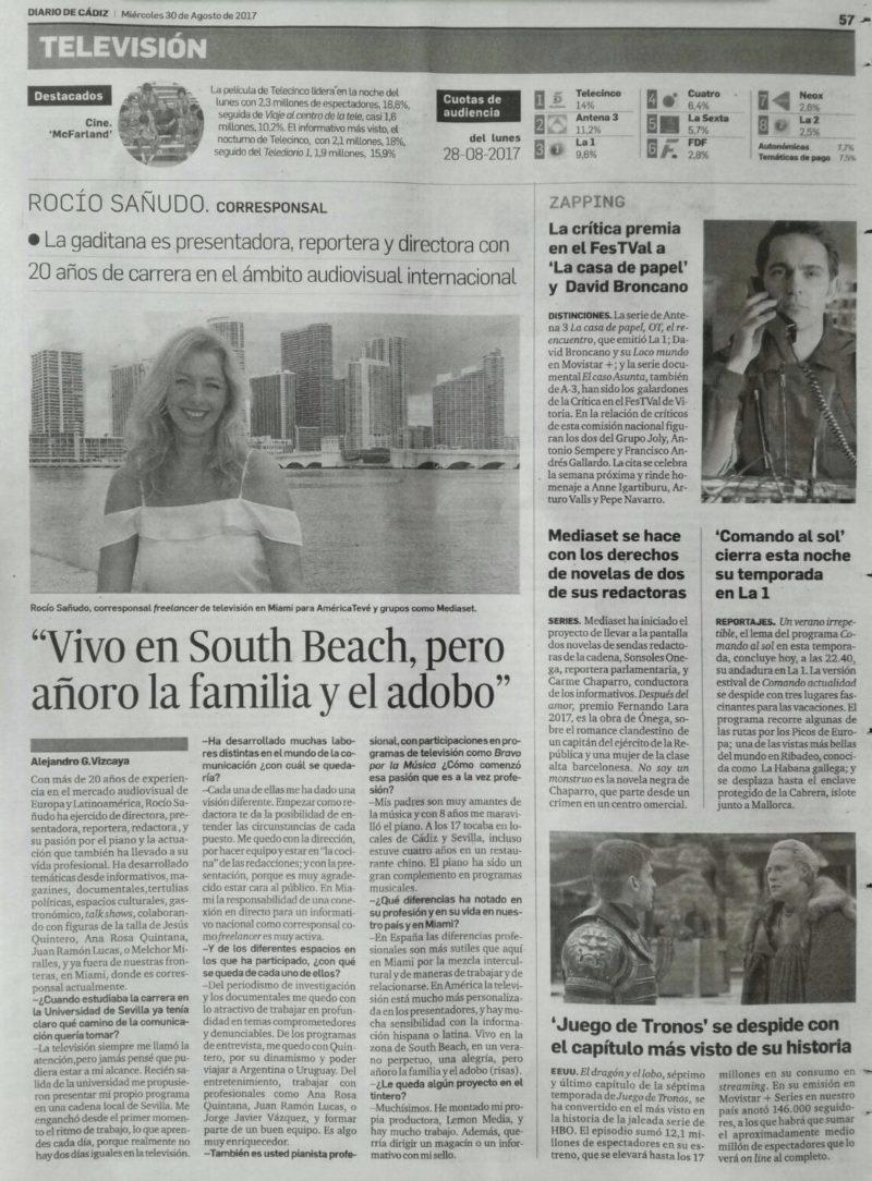 Rocío Sañudo Corresponsal